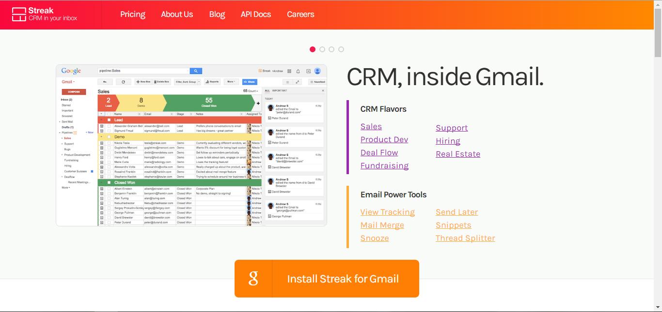 streak - startup tools list